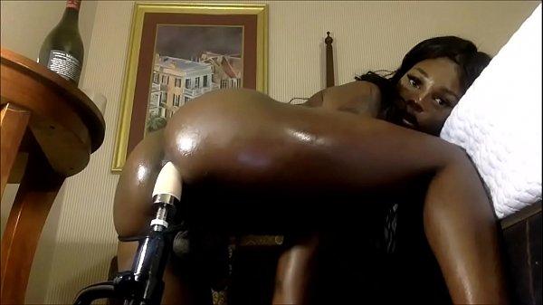 Black TS Gabriella's Solo Masturbation