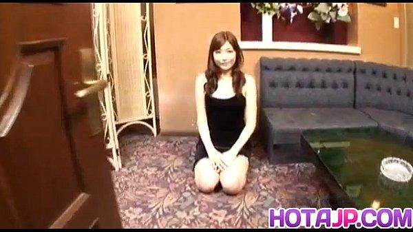 Karin Kusunoki gives a blowjob and swallows