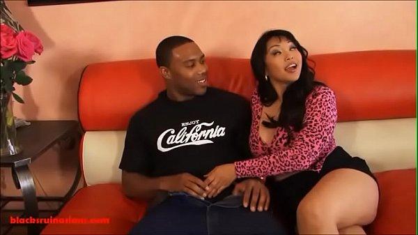 Mika Tan sucks cock and gets hard anal sex