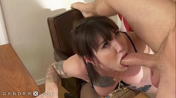 TS Lena Fucks Squirting Cis Girl Zoey!