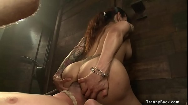 TS Roxxie Orally Dominates Male Slave!